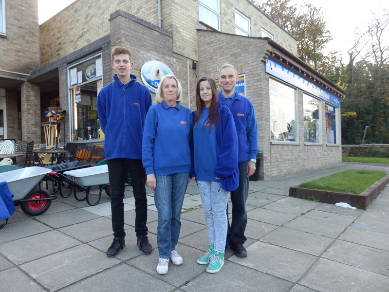 The team outside the Sawston shop